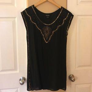 Lucky Brand Beaded Sequin Dress Size M